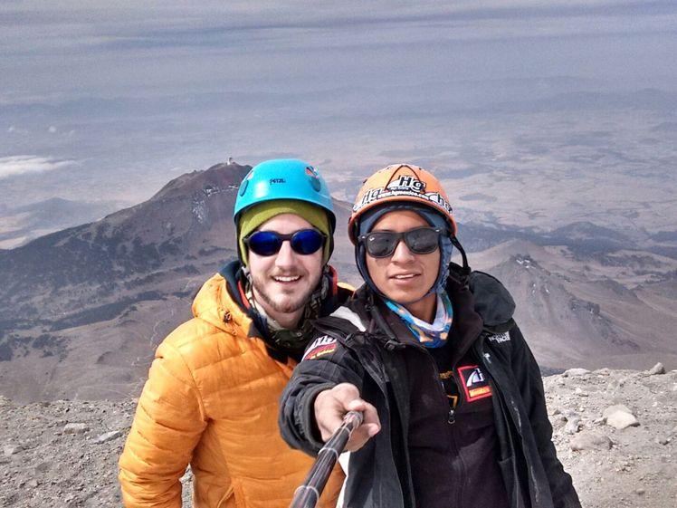 Selfie on Pico de Orizaba Summit in dry season