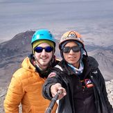Selfie on Pico de Orizaba Summit in dry season