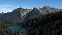 Bacon Peak and Upper Watson Lake photo