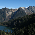 Bacon Peak and Upper Watson Lake