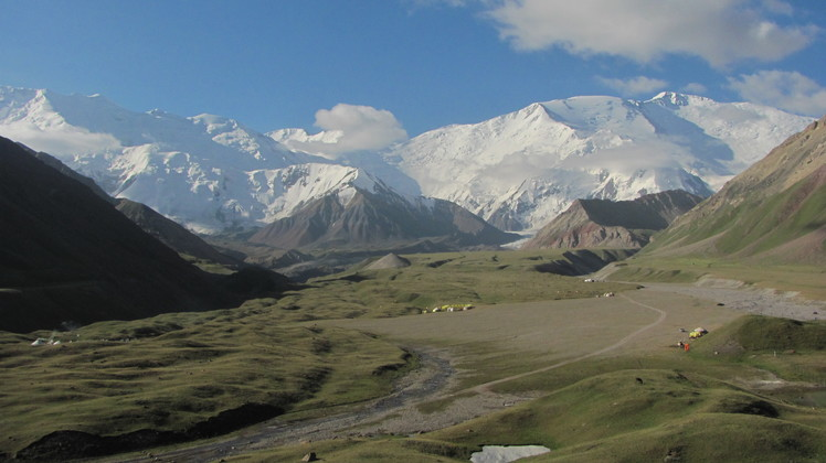 Lenin view from Achik Tash Valley, Pik Lenin