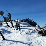 Black Crater's summit in the winter