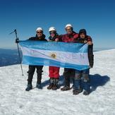 Con Proyecto 10 cumbres Milana, Volcan Lanin