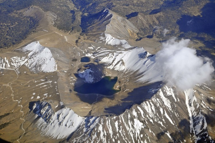 flying over Nevado de Toluca