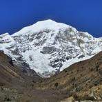 Mt Jomohlari from Base Camp in Bhutan, Mount Jomolhari