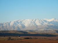 View of Mt. Hermon from the Golan heights, Mount Hermon photo