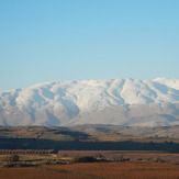 View of Mt. Hermon from the Golan heights, Mount Hermon