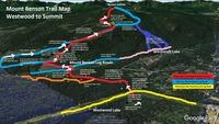 Map of Mount Benson from Westwood Lake to Summit, Mount Benson (British Columbia) photo
