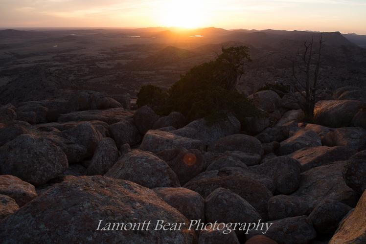 sunset, Mt Scott