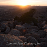 sunset, Mt Scott