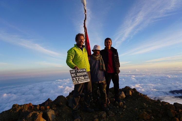 On Summit Mount Rinjani