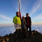 On Summit Mount Rinjani