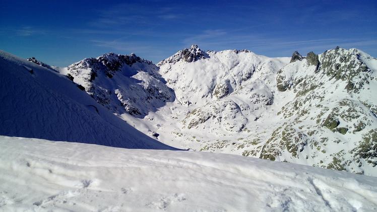 Almanzor Peak from Morezón, Pico Almanzor