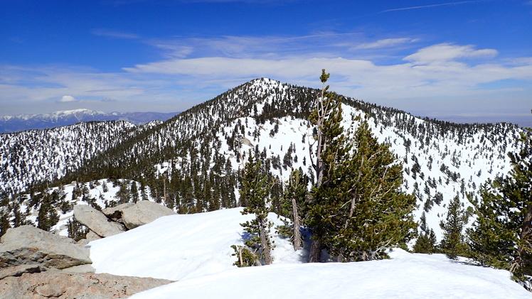 San Jacinto as seen from Jean Peak, Mount San Jacinto Peak