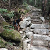 Stairs on the Mt Tecumseh trail
