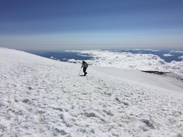 Final approach to summit of Mt Adams, Mount Adams