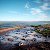 Ice puddle, Pen Y Fan