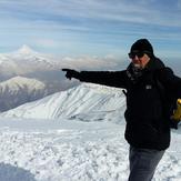 قله زیبای دماوند از توچال
