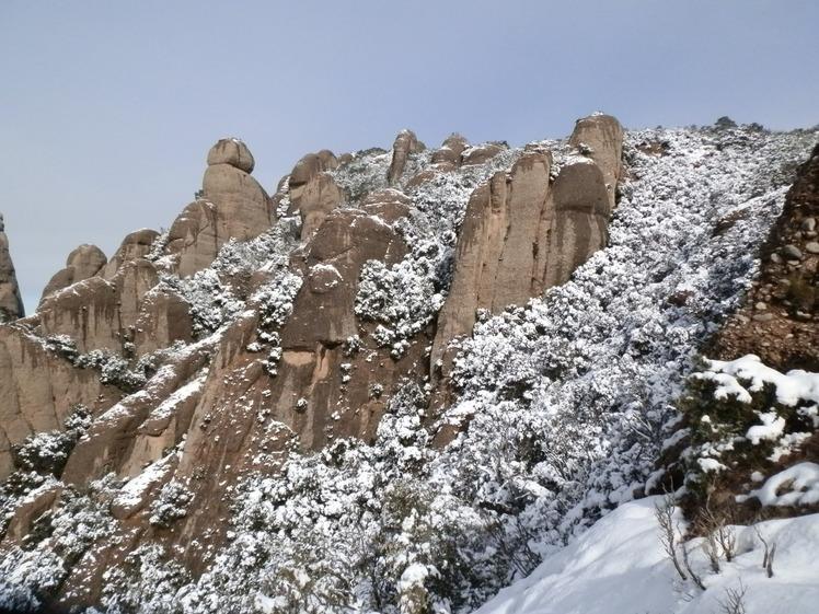 Sant Jeroni and Gegant Encantat, Montserrat (mountain)