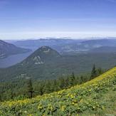 Multi exposure panorama near the top of Dog Mountain