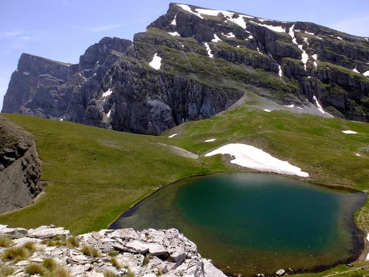 Alpine Lake at 1980m elevation at Tymfi Mt.