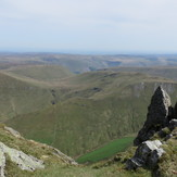 View from Aran Ridge, Aran Fawddwy