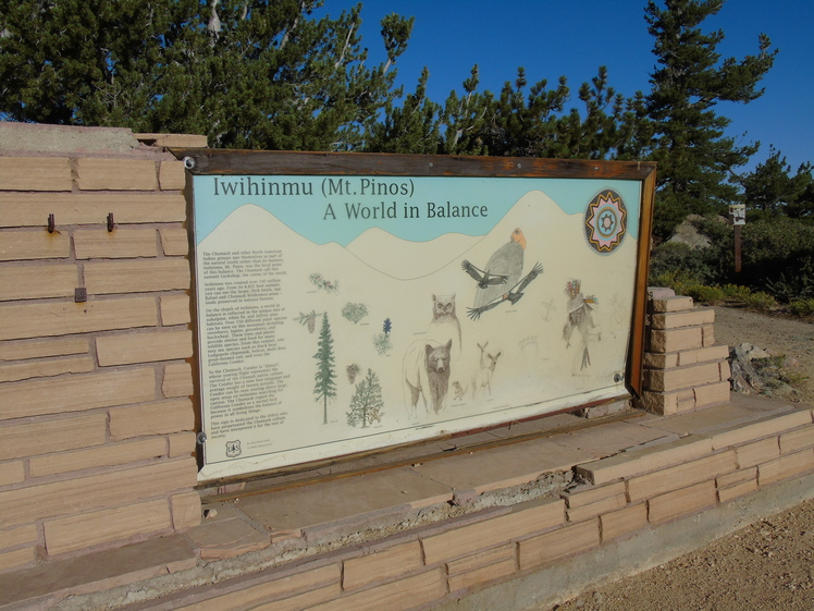 Mt. Pinos summit signage, Mount Pinos