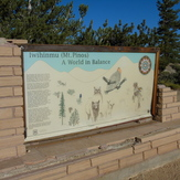 Mt. Pinos summit signage, Mount Pinos