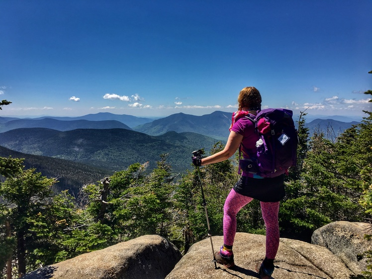 Enjoying the views, Mount Hancock (New Hampshire)