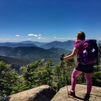 Enjoying the views, Mount Hancock (New Hampshire)