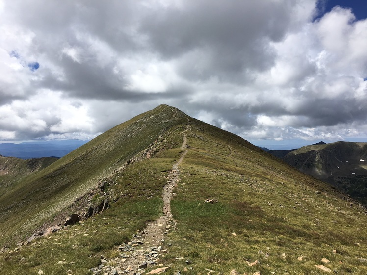 Last stretch on Bull of the Woods Trail, Wheeler Peak