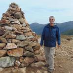 At the summit, Mt. Washington in the background., Mount Eisenhower