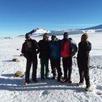 Crew in the Kilimanjaro Crater, Mount Kilimanjaro
