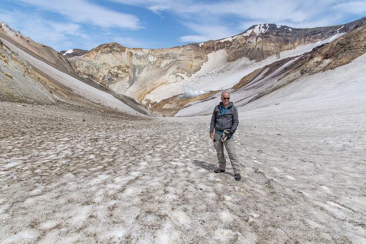 another glacier inside Mutnovsky