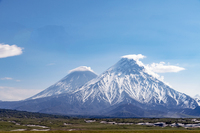 Kliuchevskoy, the highest stratovolcano of Eurasia, partly hidden behind Kamen, Kliuchevskoi photo