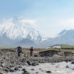 rivercrossings on Kamchatka should be done in morning hours, Kamen (Kamchatka)