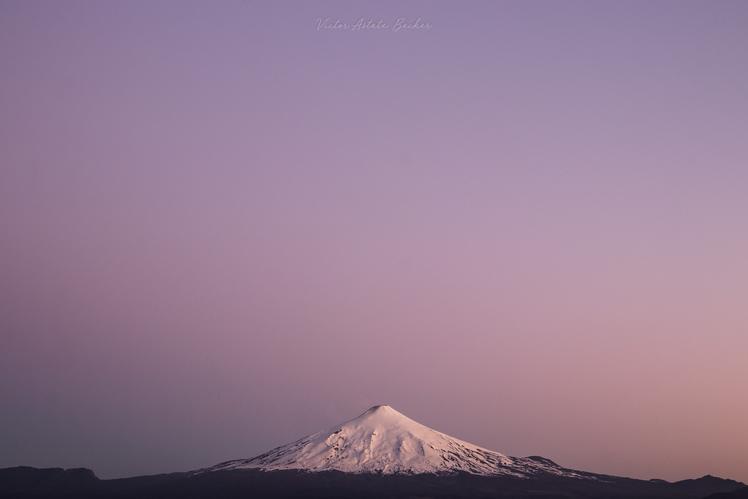 Sunset at Villarrica Volcano, Villarrica (volcano)