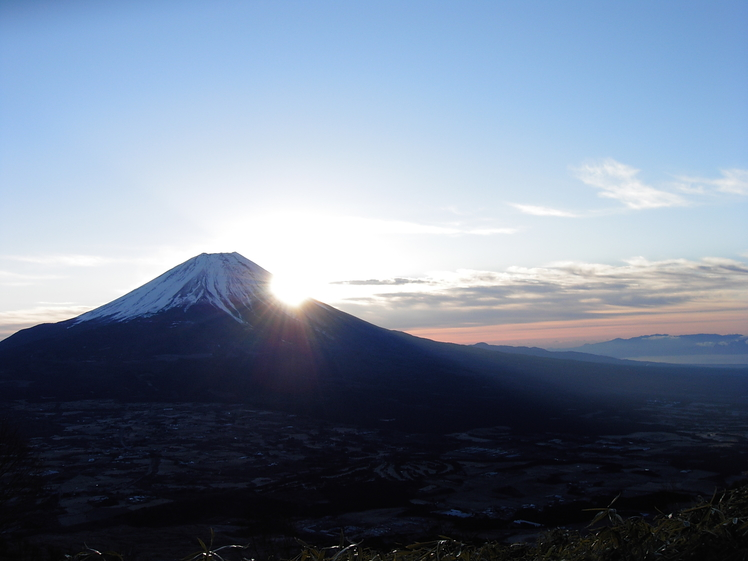 New year sunrise over Mt. Fuji, Fuji-san