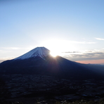 New year sunrise over Mt. Fuji, Fuji-san