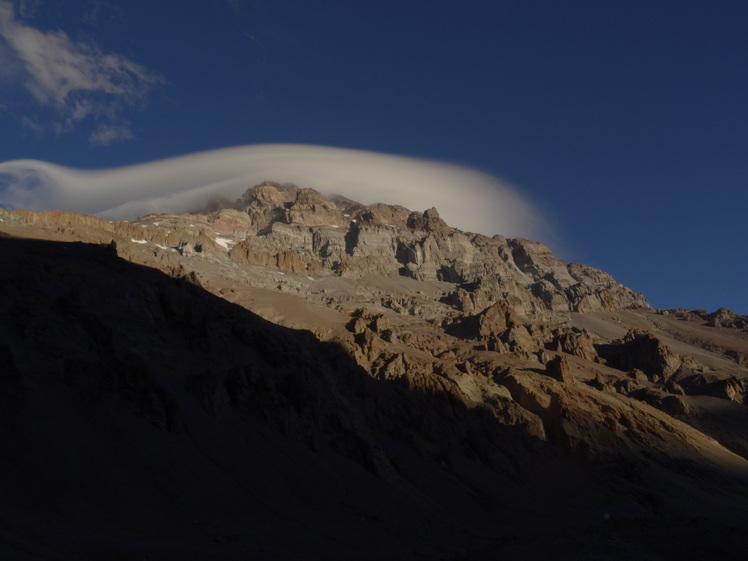 Summit from Plaza de Mulas, Aconcagua