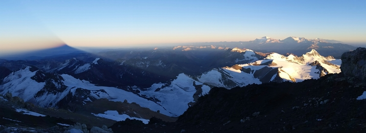 Shadow of Aconcagua at sunrise