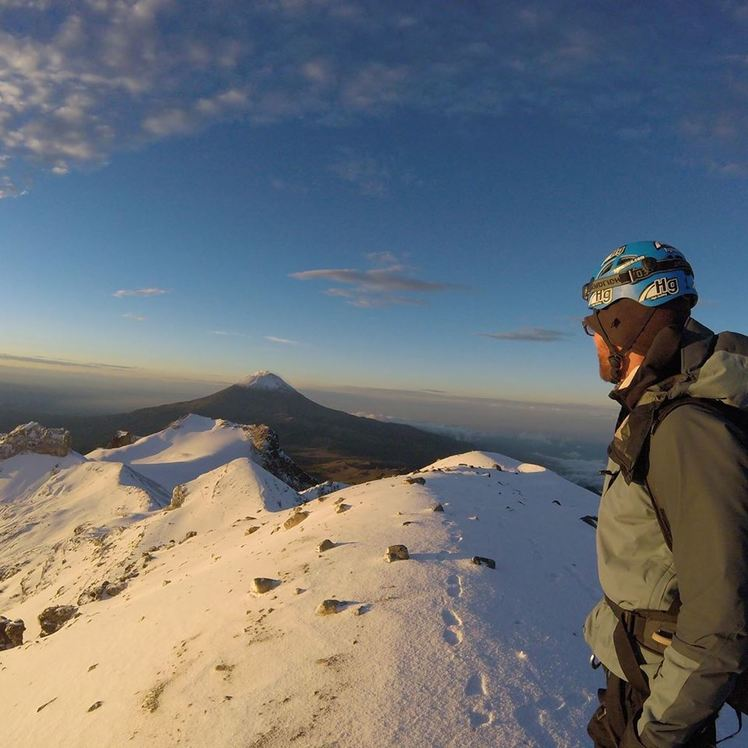 """Iaztaccihuatl """"Arista del Sol"""" from the summit, Iztaccihuatl"""