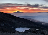 Sunrise heading up St. Helens 9/18, Mount Saint Helens photo