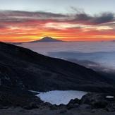 Sunrise heading up St. Helens 9/18, Mount Saint Helens