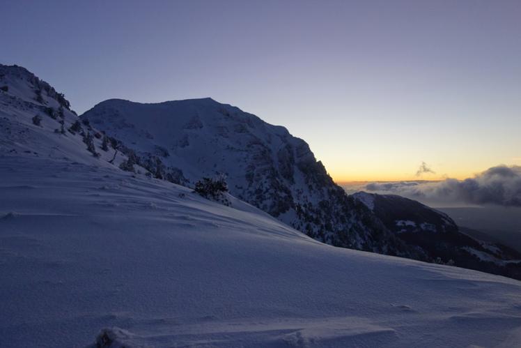 Serra Dolcedorme at sunrise, Monte Pollino
