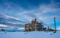 Mountain refuge and weather station on top of Vitosha mountain, Cerni Vruh photo