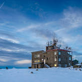 Mountain refuge and weather station on top of Vitosha mountain, Cerni Vruh