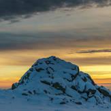 Cherni Vruh at sunset, Cerni Vruh