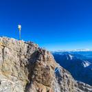 Summit cross atop Zugspitze