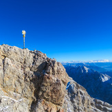 Summit cross atop Zugspitze